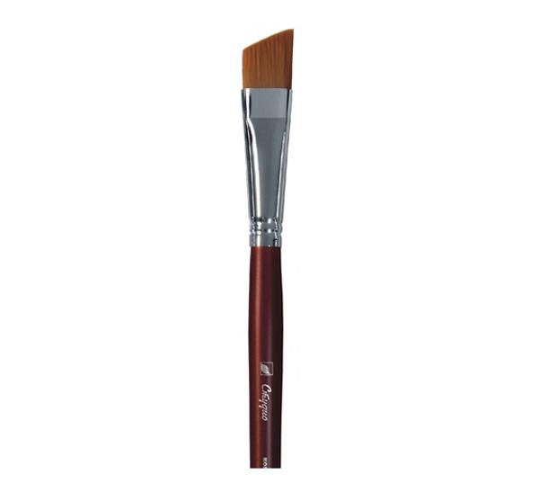 Купить Кисть синтетика №16 скошенная Альбатрос Студио длинная ручка, Россия