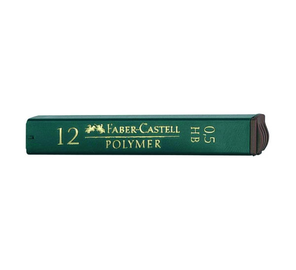 Купить Набор грифелей для механического карандаша Polymer 12 шт 0, 5 мм, 2H, Faber–Сastell, Германия