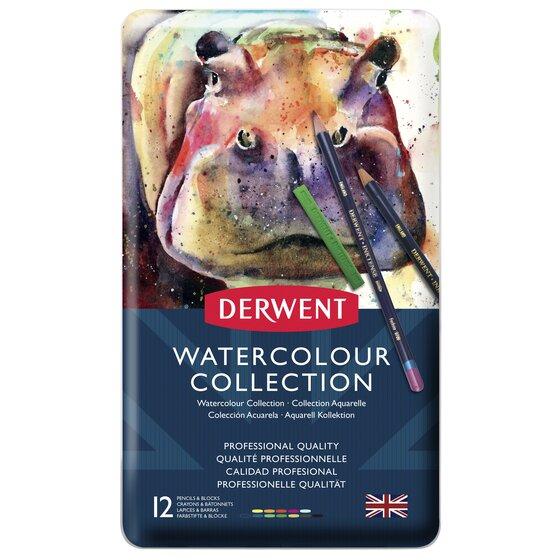 Купить Набор для акварели Derwent Watercolor Collection 12 шт в метал кор