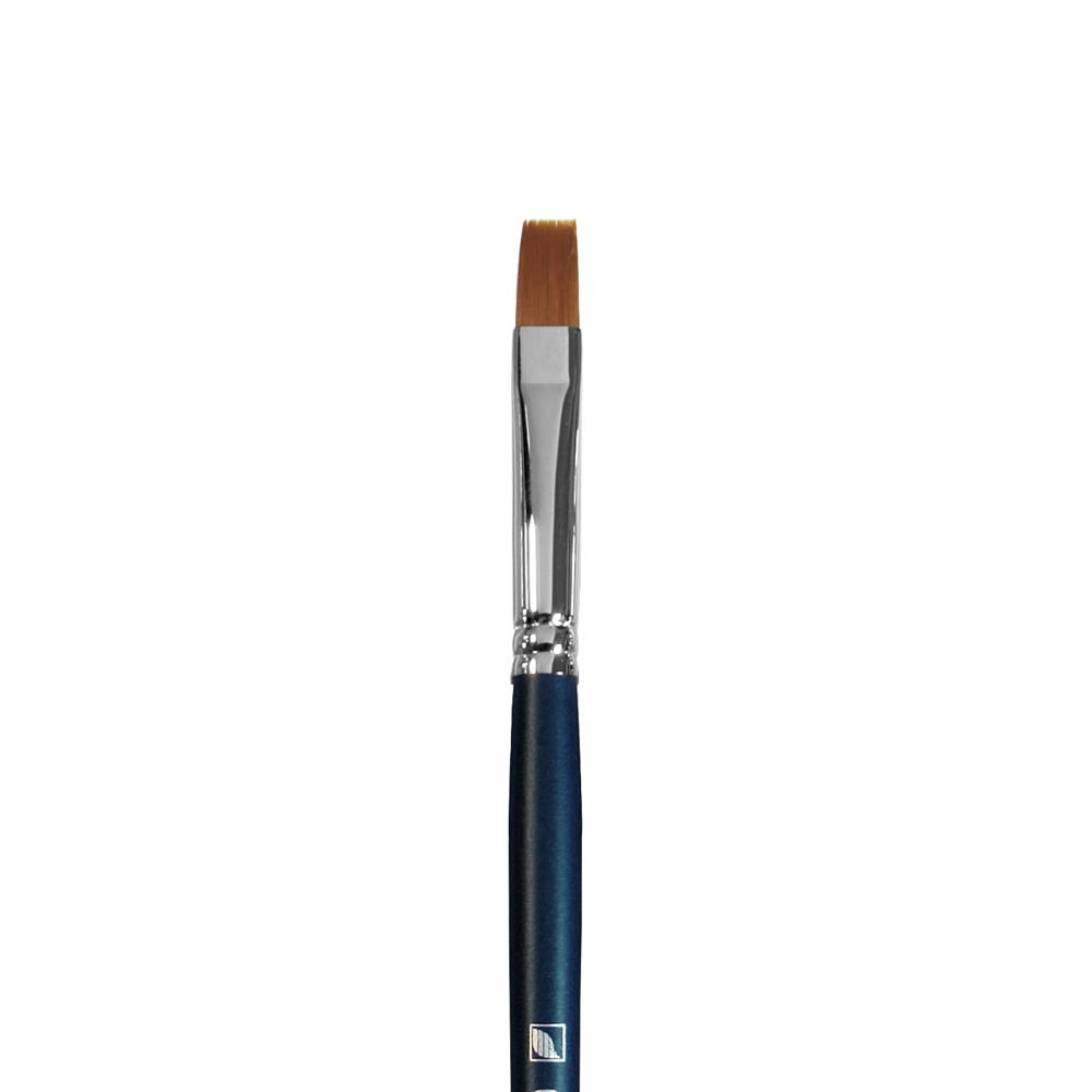 Купить Кисть синтетика №8 плоская Альбатрос Байкал длинная ручка, Россия