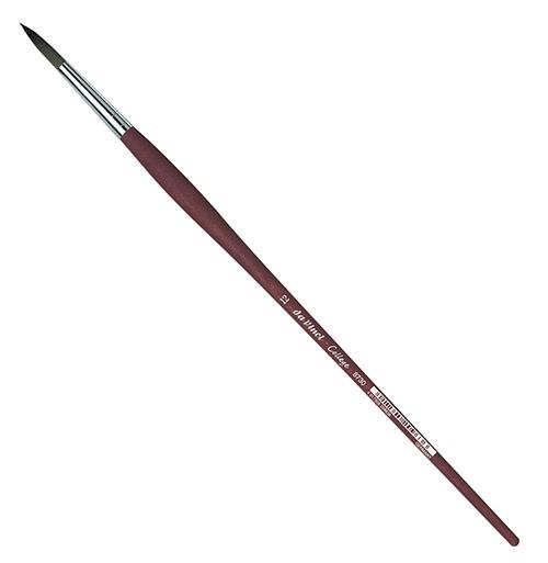 Купить Кисть синтетика №12 круглая Da Vinci 8730 длинная ручка, Германия