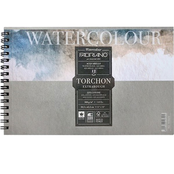 Купить Альбом для акварели на спирали Fabriano Watercolour studio Torchon 32x41 см 12 л 270 г, Италия