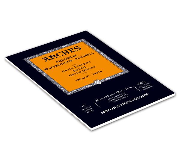 Купить Альбом-склейка для акварели Canson Arches Torchon 26х36 см 12 л 300 г, Франция