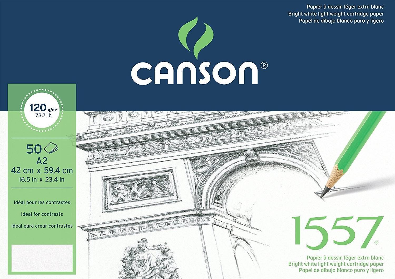 Купить Альбом-склейка для графики Canson 1557 42х59, 4 см 50 л 120 г, Франция