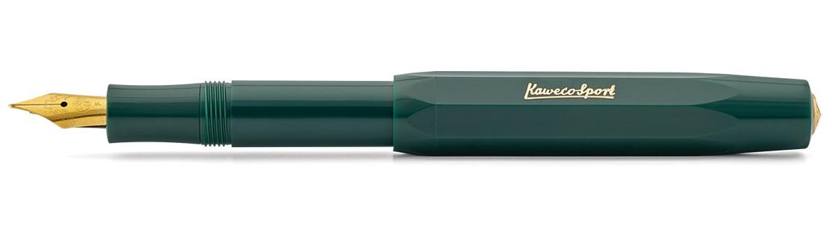 Купить Ручка перьевая Kaweco CLASSIC Sport B 1, 1 мм, чернила синие, корпус зеленый, Германия