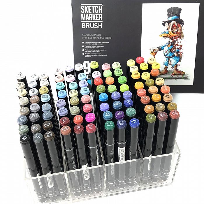 Купить Набор маркеров Sketchmarker Brush 96 Set 4- (96 маркеров в пластиковом кейсе), Япония