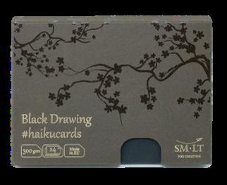 Купить Набор открыток SM-LT Black Haikucards (черные) 14, 7x10, 6 см 300 г 24 шт, Smiltainis, Литва