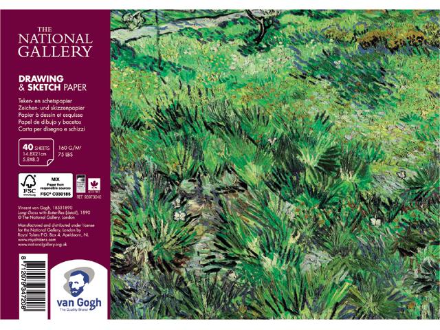 Купить Альбом на спирали для зарисовок Talens Van Gogh National Gallery А5 40 л 160 г, Royal Talens