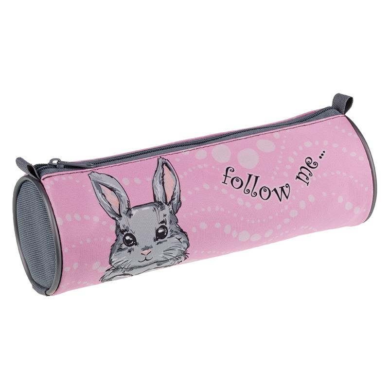 Купить Пенал-тубус Berlingo Rabbit 210*70 мм, полиэстер, Россия
