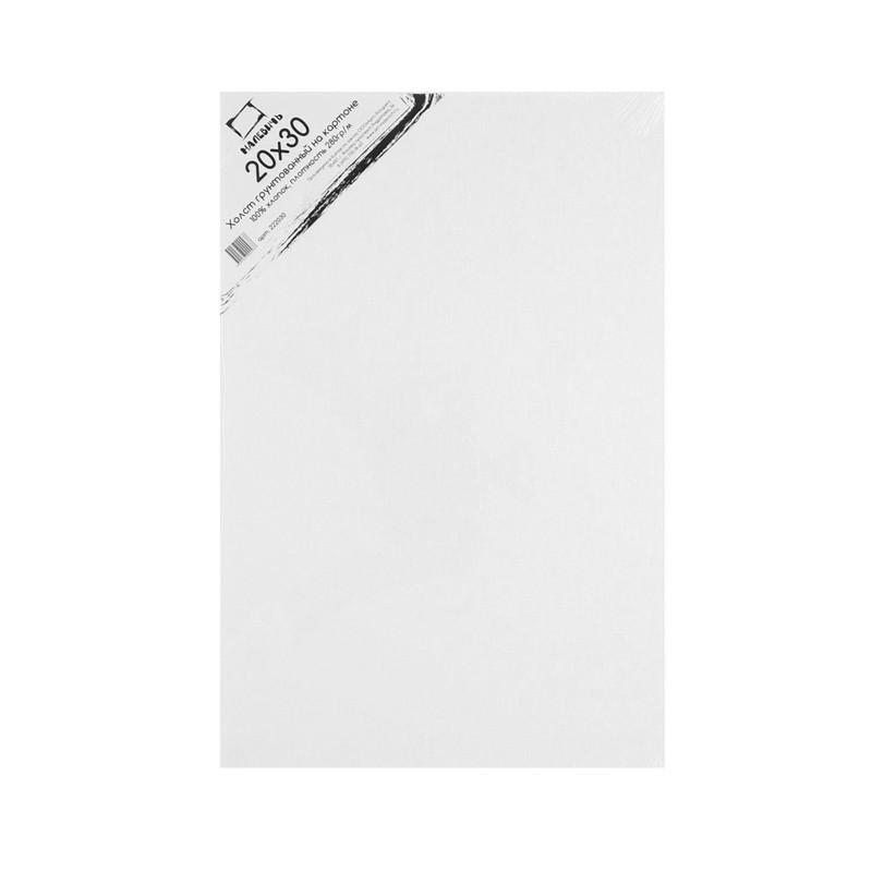 Купить Холст грунтованный на картоне Малевичъ 20x30 см, Россия