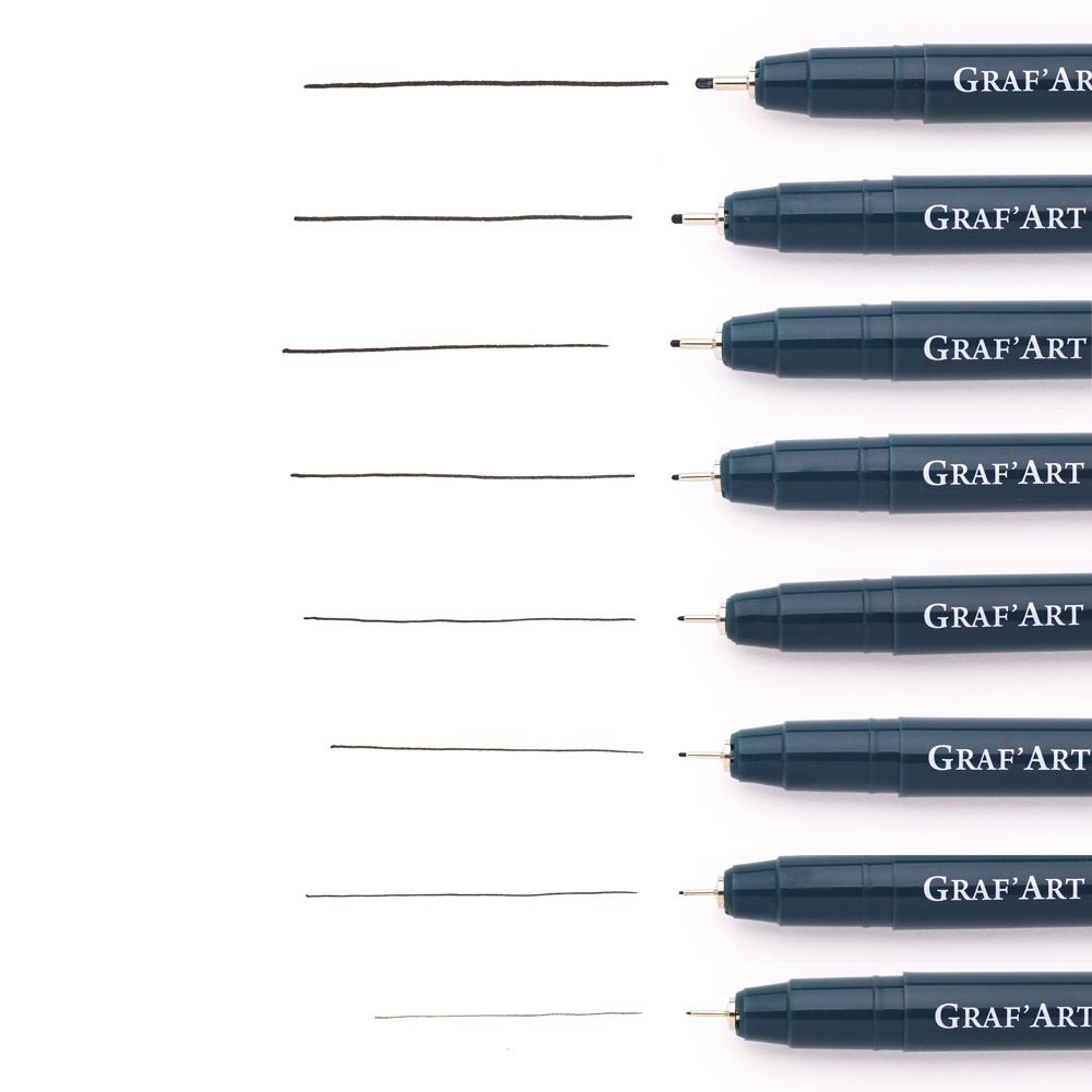 Купить Ручка капиллярная Малевичъ Graf'Art , все размеры наконечников, Россия