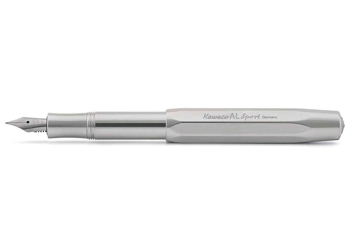 Купить Ручка перьевая Kaweco AL Sport EF 0, 5 мм, чернила синие, корпус светло-серый, Германия