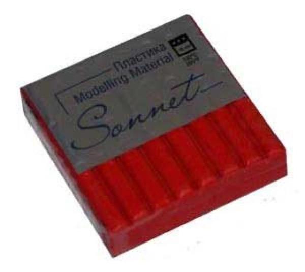 Купить Пластика для запекания Sonnet 56 г с блестками Красный, Сонет, Россия