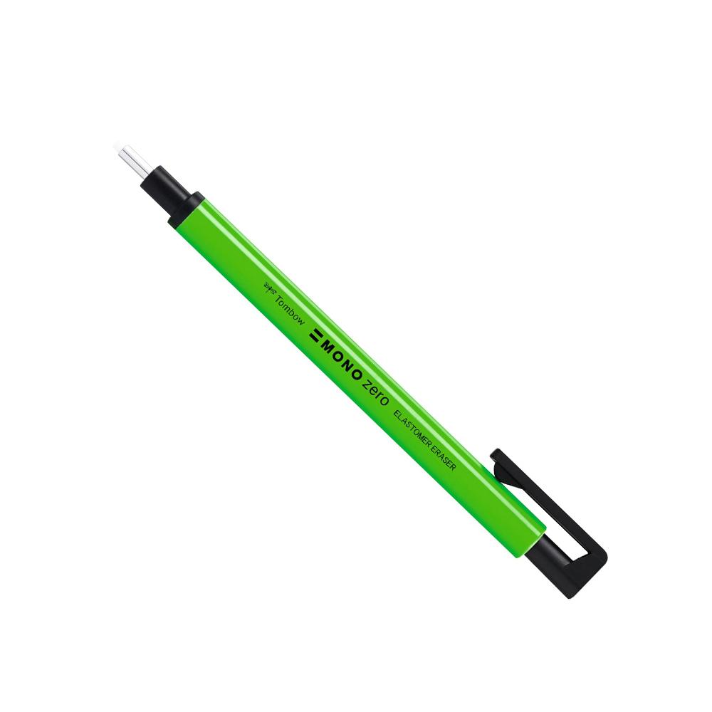 Купить Ластик-ручка Tombow Mono Zero круглый наконечник, неоново-зеленый, d-2, 3 мм, Япония