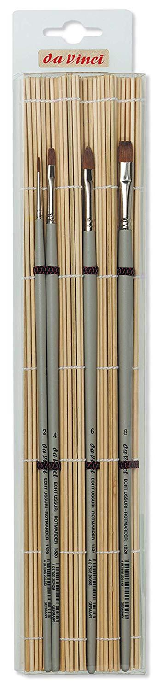 Купить Набор кистей соболь Da Vinci 4 шт с бамбуковой подложкой, Германия