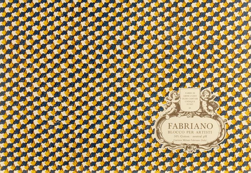Купить Альбом-склейка для акварели Fabriano Blocco per Artisti Фин 12, 5x18 см 20 л 300 г 50% хлопок, Италия