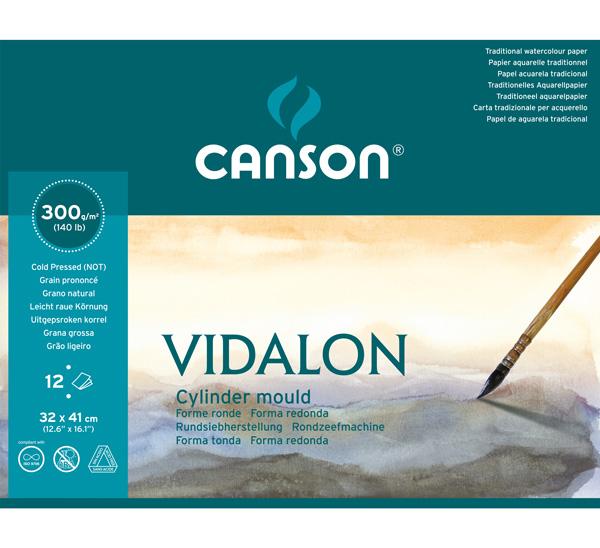 Купить Альбом-склейка для акварели Canson Vidalon 32х41 см 12 л 300 г, Франция
