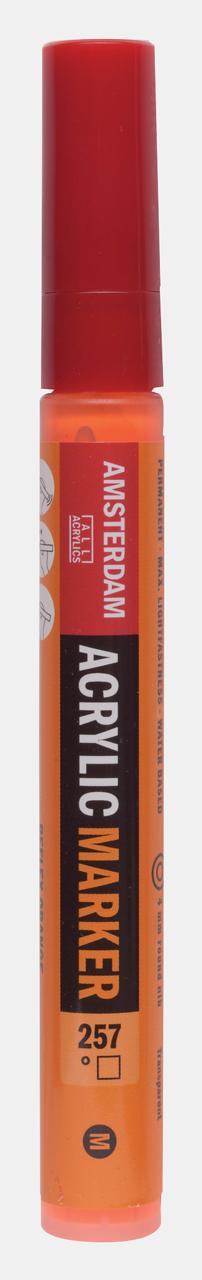 Купить Маркер акриловый Talens Amsterdam 4 мм №257 Оранжевый отражающий, Royal Talens, Россия