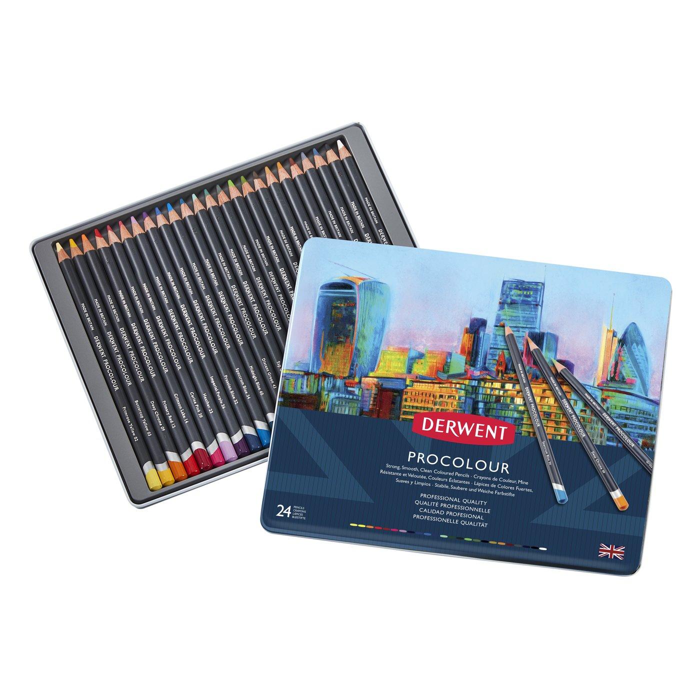 Купить Набор карандашей цветных Derwent Procolour 24 цв в метал. коробке
