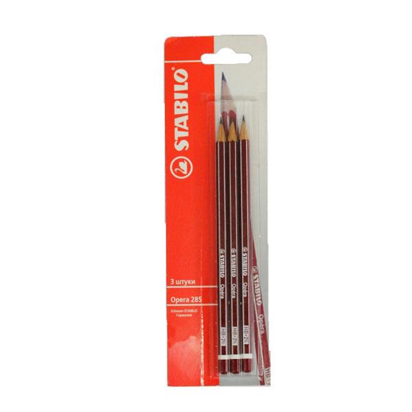 Купить Набор карандашей чернографитных Stabilo 3 шт в блистере, Германия