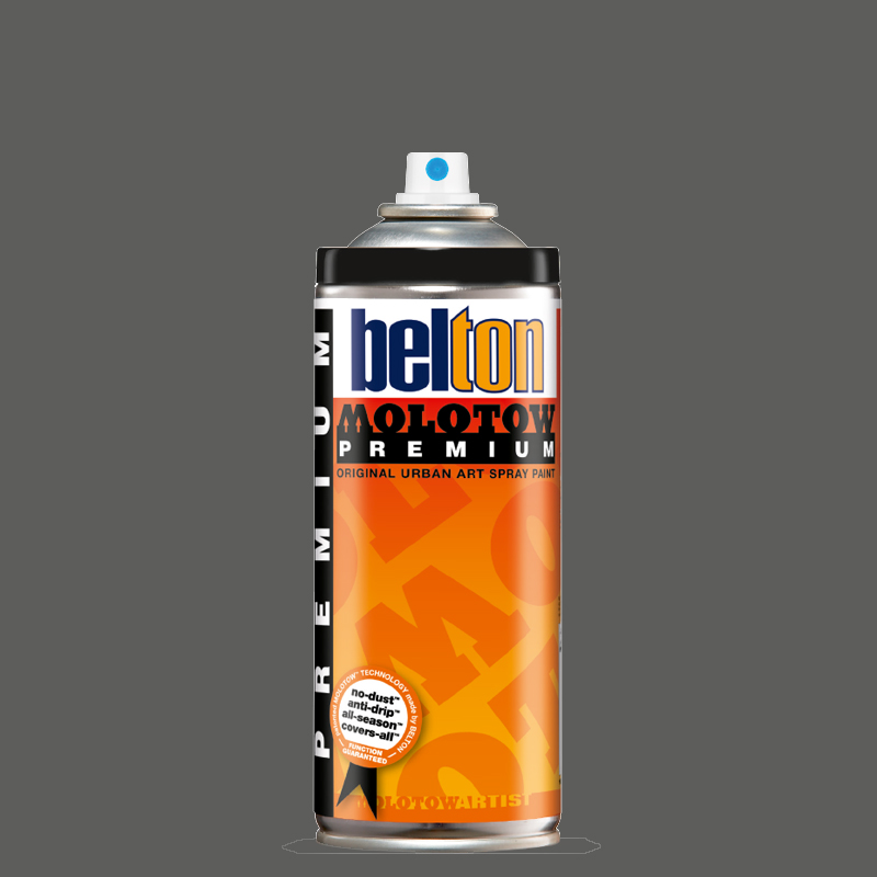 Купить Аэрозольная краска Molotow Premium belton 400 мл #221-1 black grey light, Германия