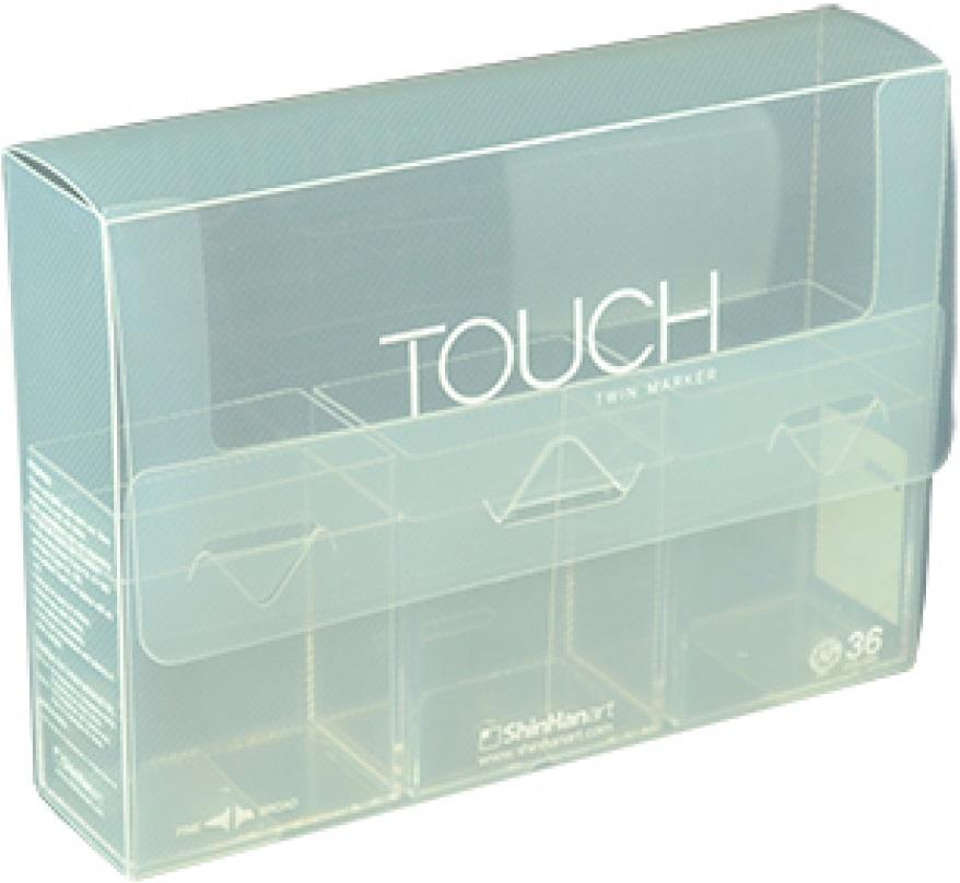 Купить Кейс для маркеров Brush Touch Twin на 36 шт, прозрачный, ShinHan Art (Touch), Южная Корея
