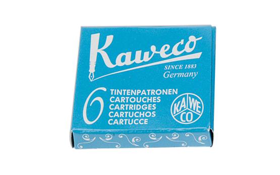 Купить Набор картриджей для перьевых ручек Kaweco 6 шт, Небесно-голубой, Германия
