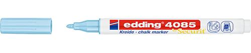 Купить Маркер меловой Edding 4085 1-2 мм с круглым наконечником, синий пастельный, Германия