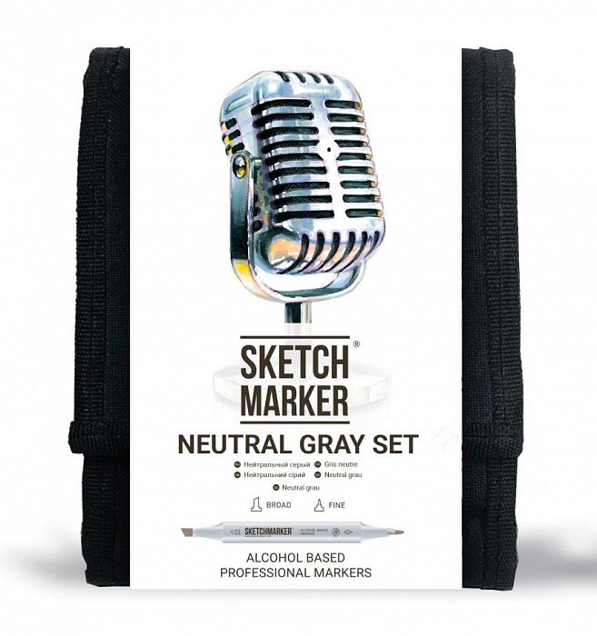 Купить Набор маркеров Sketchmarker Neutral gray 12 шт, Япония