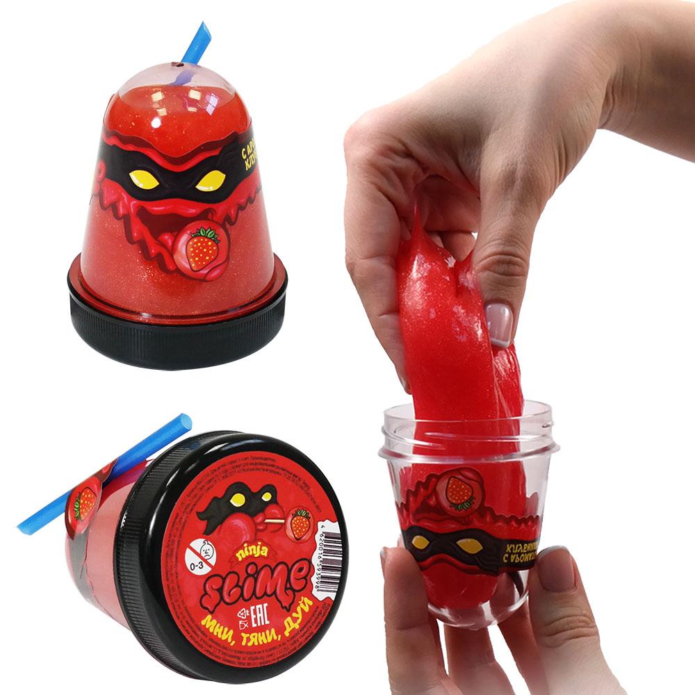 Купить Игрушка Slime Ninja, с ароматом клубники, 130 гр, Волшебный мир, Россия