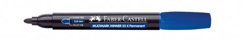 Купить Маркер перманентный Faber-Castell Winner 52 1-2 мм, с круглый наконечником, синий, Faber–Сastell, Германия