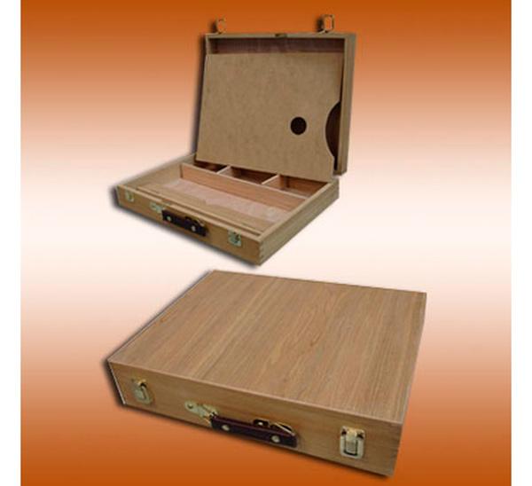 Купить Ящик деревянный (вяз) для красок с палитрой 40х31х8 см, ХоББитания, Китай