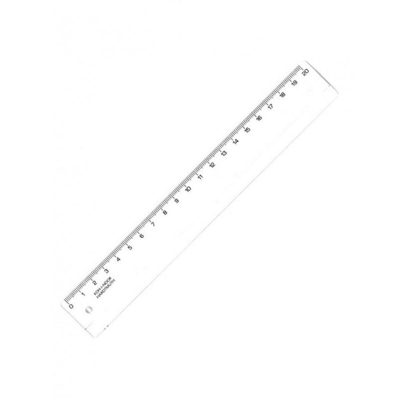 Купить Линейка пластиковая 20 см Koh-I-Noor прозрачная, KOH–I–NOOR, Чехия