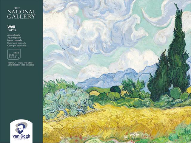 Купить Альбом-склейка для акварели Talens Van Gogh National Gallery 24х32 см 12 л 300 г, Royal Talens