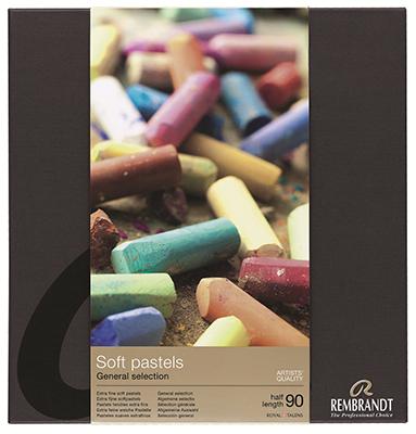Купить Набор сухой пастели Talens Rembrandt Профессиональный 90 цв (половинки), в картонной коробке, Royal Talens