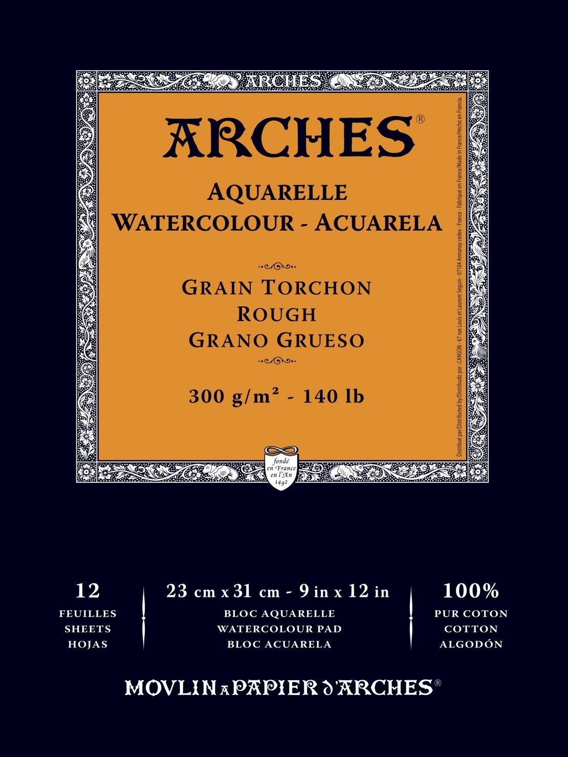 Купить Альбом-склейка для акварели Canson Arches Torchon 23х31 см 12 л 300 г, Франция