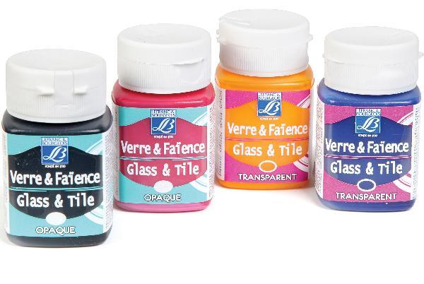 Купить Краска по стеклу и керамике Glass&Tile обжиг 50 мл непрозрачная Цвет морской волны №658, LEFRANC&BOURGEOIS, Франция