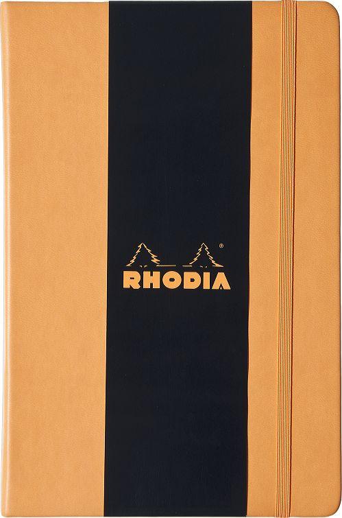 Купить Блокнот Rhodia Webnotebook 14х21 см 96 л 90 г, оранжевый, листы: слоновая кость, Франция