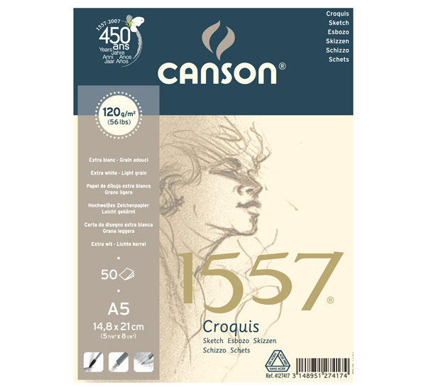 Купить Альбом-склейка для набросков Canson 1557 , Франция
