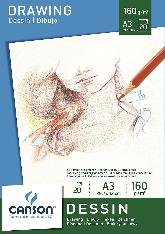 Купить Альбом-склейка для графики Canson Dessin 29, 7х42 см 20 л 160 г, Франция