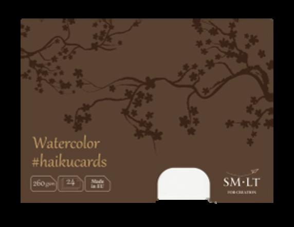 Купить Набор открыток SM-LT из акварельной бумаги Watercolor Haikucards 14, 7x10, 6 см 260 г 24 шт, Smiltainis, Литва