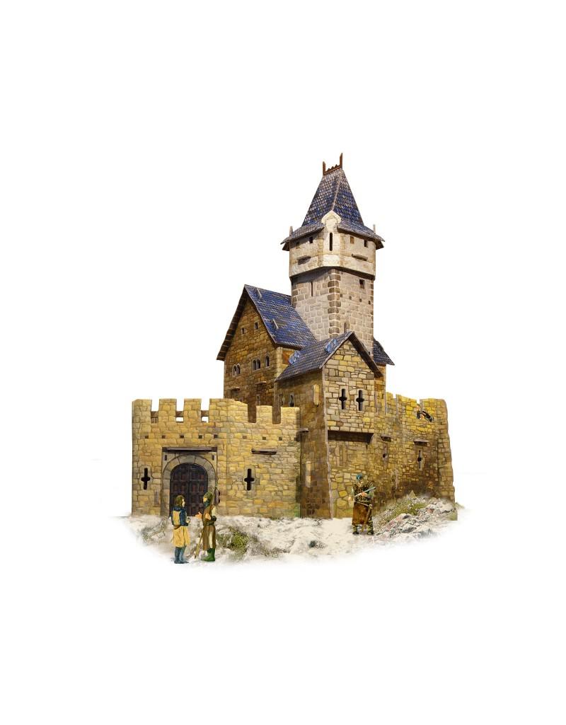Купить Игровой набор из картона Средневековый город Охотничий замок , Умная бумага, Россия