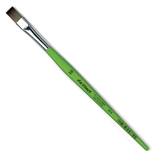 Купить Кисть синтетика №10 плоская Da Vinci 374 короткая ручка, Германия