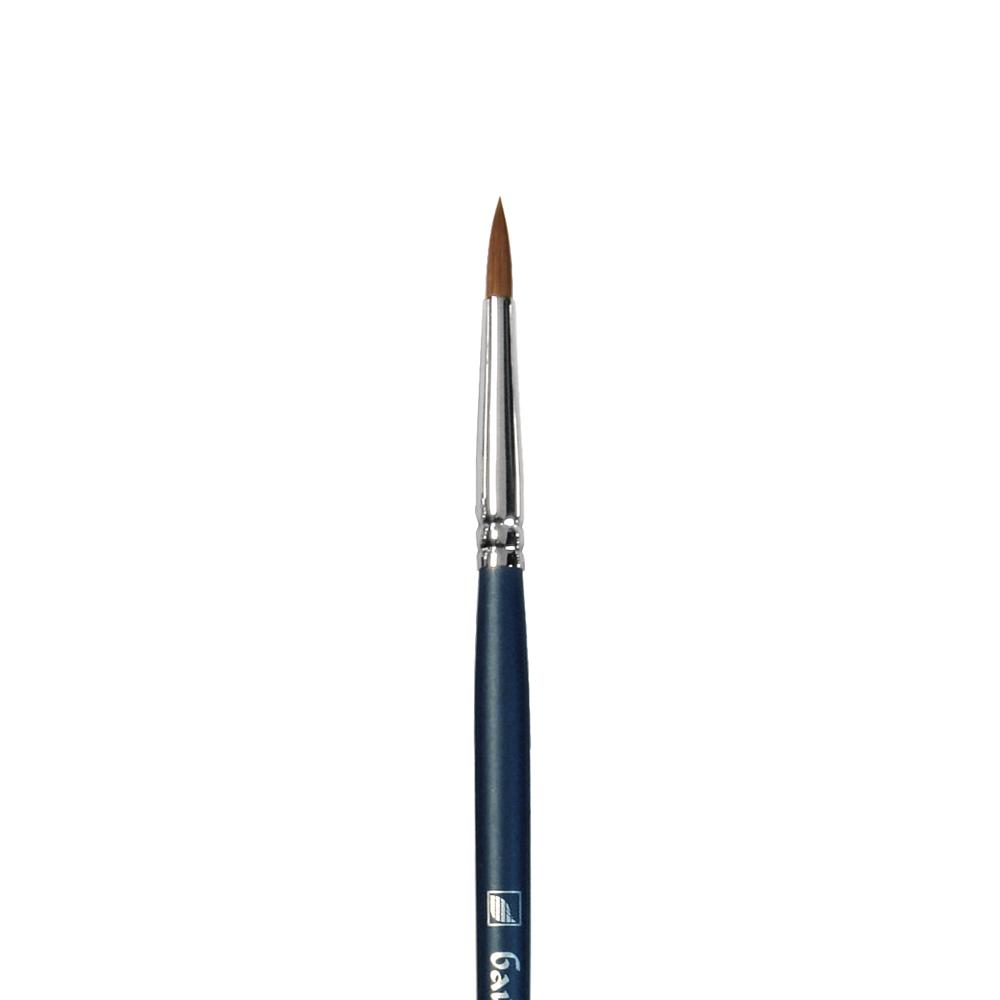 Купить Кисть синтетика №5 круглая Альбатрос Байкал длинная ручка, Россия