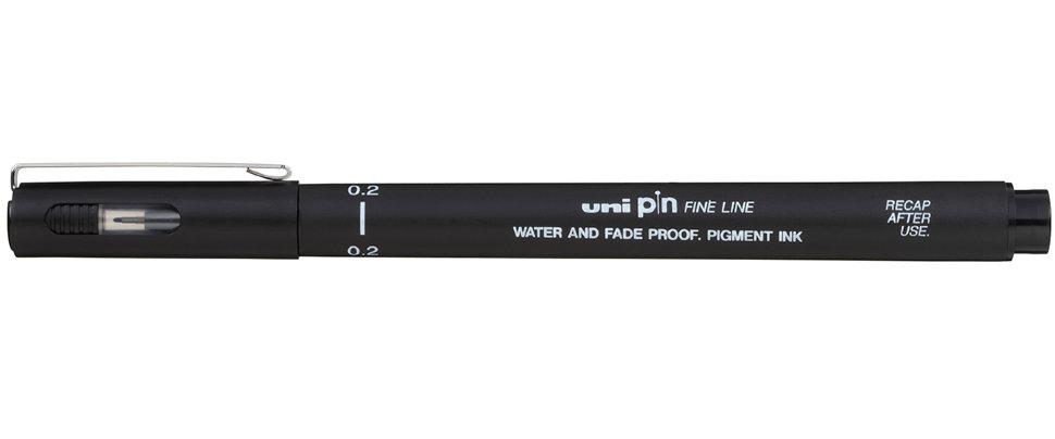 Купить Линер UNI PIN02-200 (S) 0, 2 мм, черный, Япония