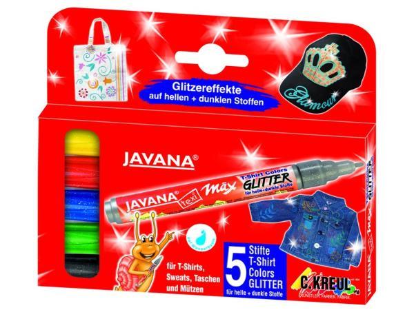 Купить Набор маркеров для росписи по тканям Texi max с блестками 5 цв, C.Kreul, Германия