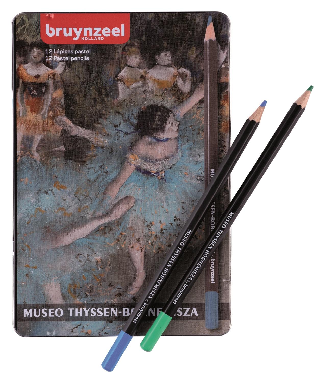 Купить Набор карандашей пастельных Bruynzeel THYSSEN 12 шт в металлической коробке