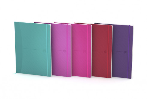 Купить Блокнот в линейку OXFORD Office Signature B5 80 л мягкая обложка ассорти, яркие цвета, Франция