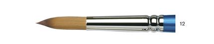 Купить Кисть синтетика №12 круглая Winsor&Newton COTMAN 111 короткая ручка, Winsor & Newton