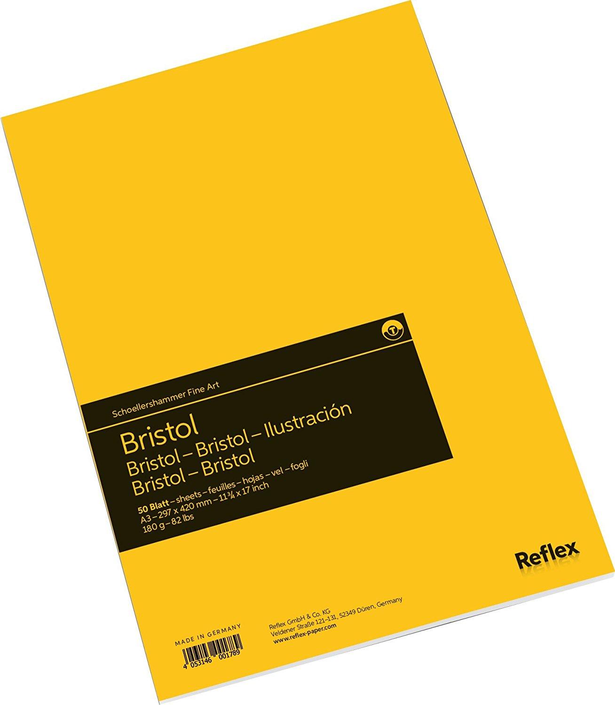 Купить Альбом-склейка для графики Reflex Bristol 29, 7х42 см 50 л 180 г, Германия